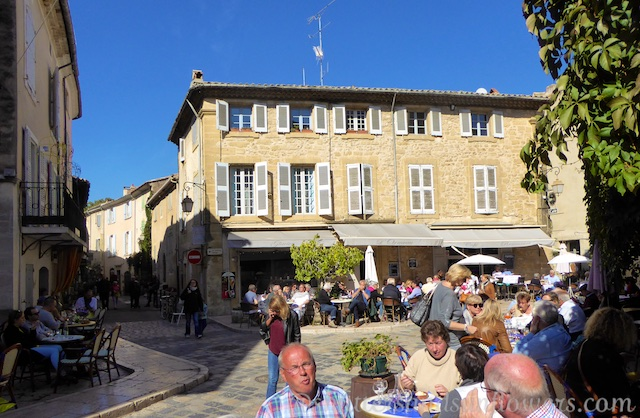 Lunch in Lourmarin after the Friday market