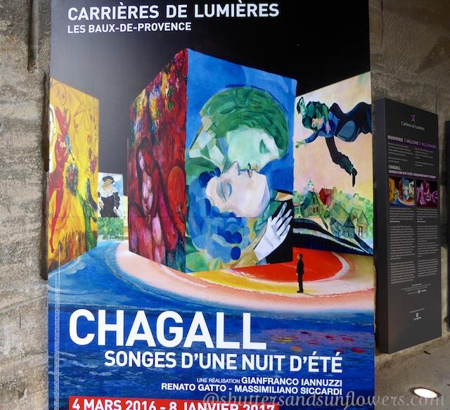 Les Carrières de Lumières 2017, Marc Chagall.
