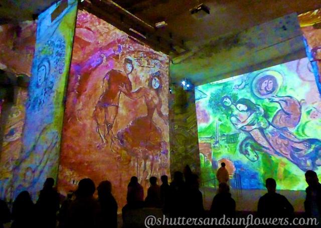 Carrières de Lumières 2016 Marc Chagall, Les Baux de Provence, Provence, France