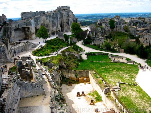 Chateau Ruins at Les Baux de Provence, Provence, France