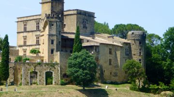 The Lourmarin Château in Lourmarin, Luberon, Vaucluse, Provence, France