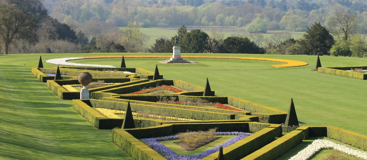The grounds at Cliveden, home of the Astors