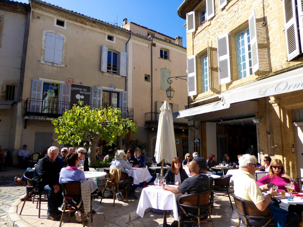 Lunch after the Lourmarin Market