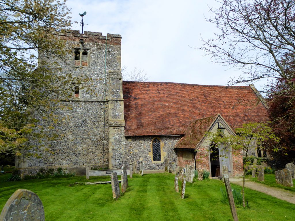 Springtime in England by St Mary the Virgin Church Turville