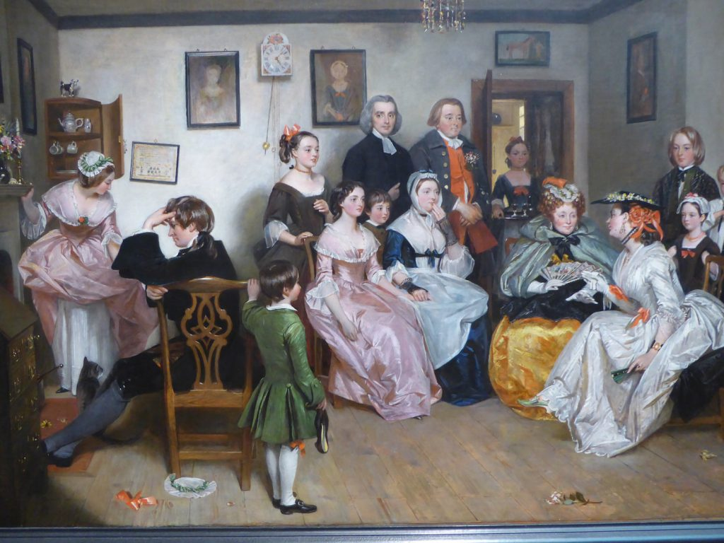 Charles Robert Leslie (English 1794-1859) A Scene from 'The Vicar of Wakefield by Oliver Goldsmith 1843 at the Legion of Honor San Francisco
