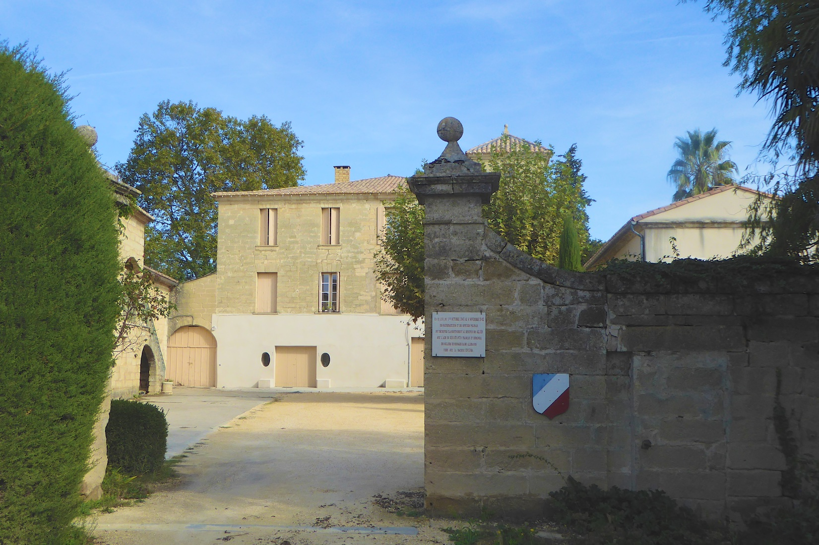 Entrance to Château des Fouzes, Uzes, France, hoem to the Polish code breakers who cracked Enigma in 1932