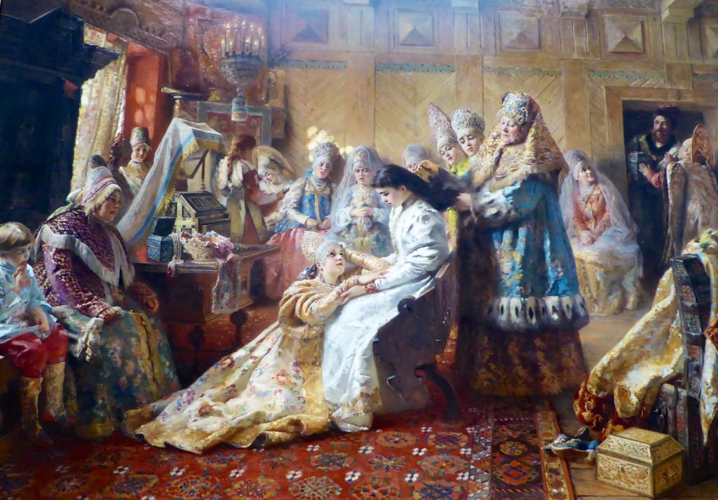 Konstantin Makovsky (1839-1915) Russian Bride's Attire at The Legion of Honor, San Francisco