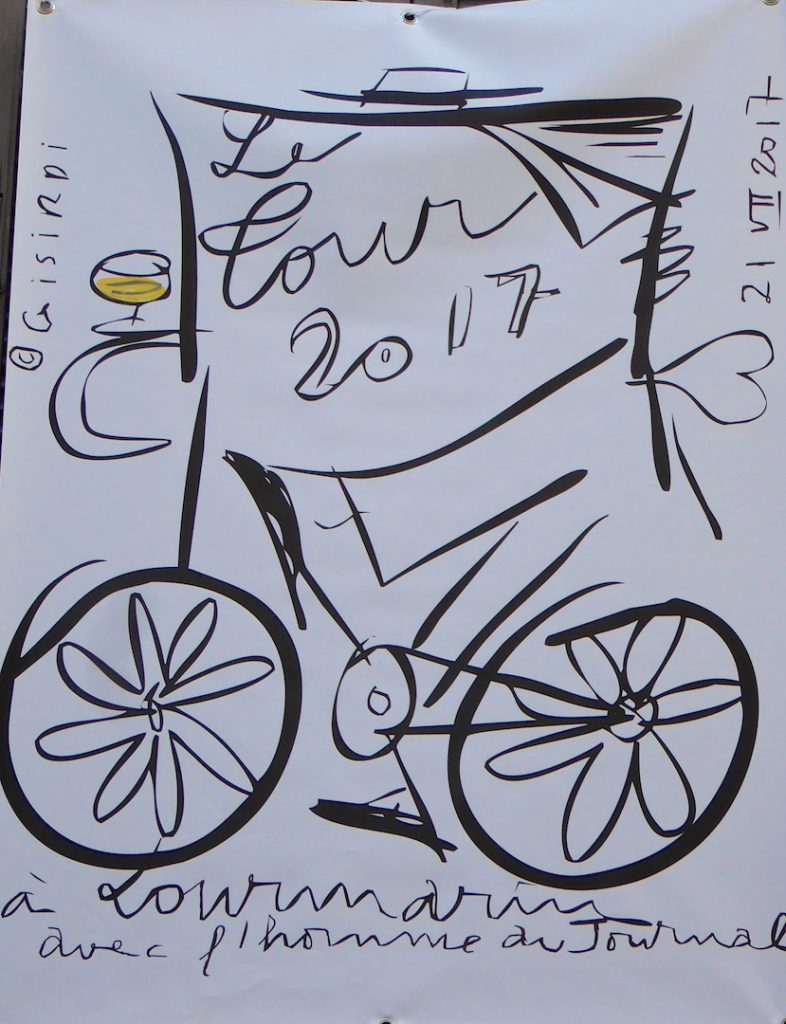 Isirdi's poster for Tour de France 2017 in Loumarin