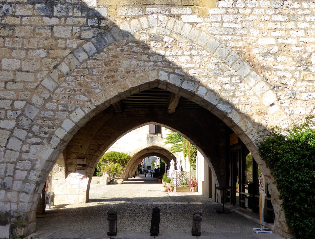 Arches of Monpazier, Dordogne, Perigord, France