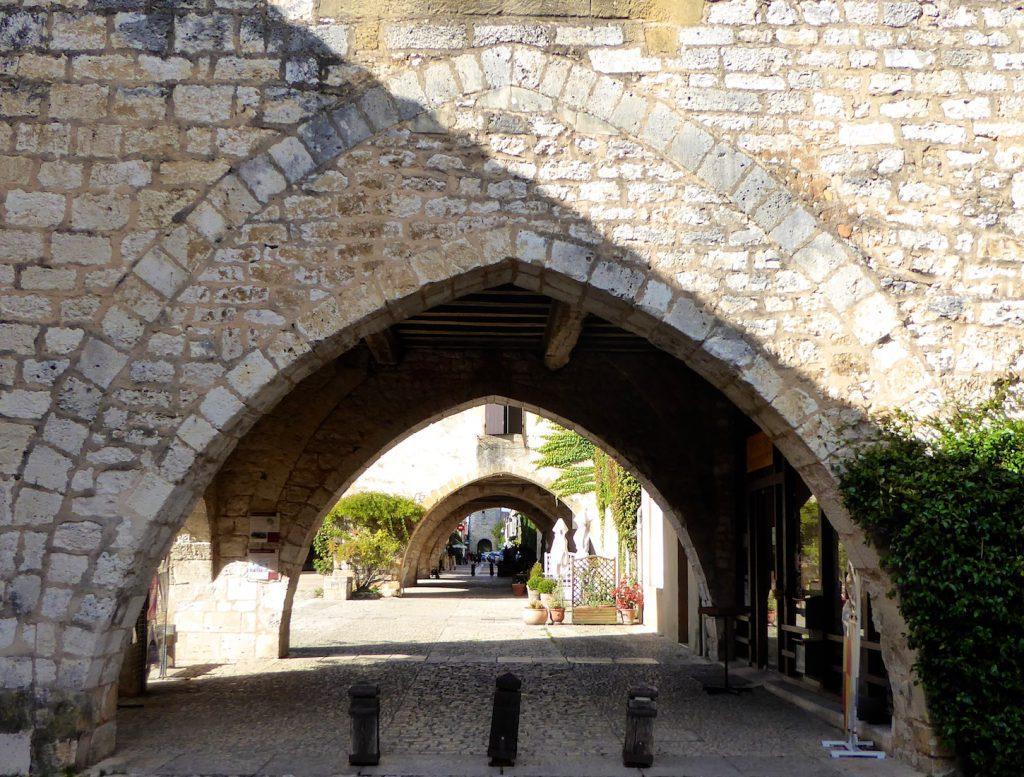Arches of Monpazier, Dordogne, Perigord, France