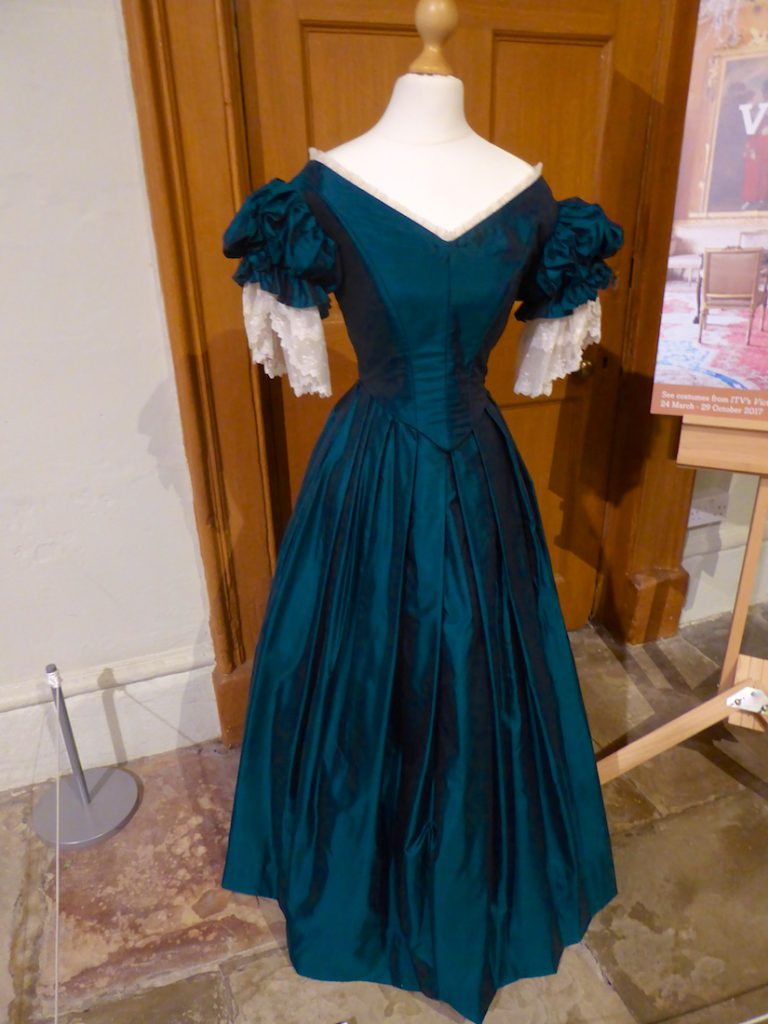 Costumes from 'Victoria', filmed at Harewood House Yorkshire, England