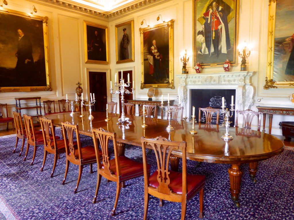 Dining room at Harewood House, Yorkshire, England