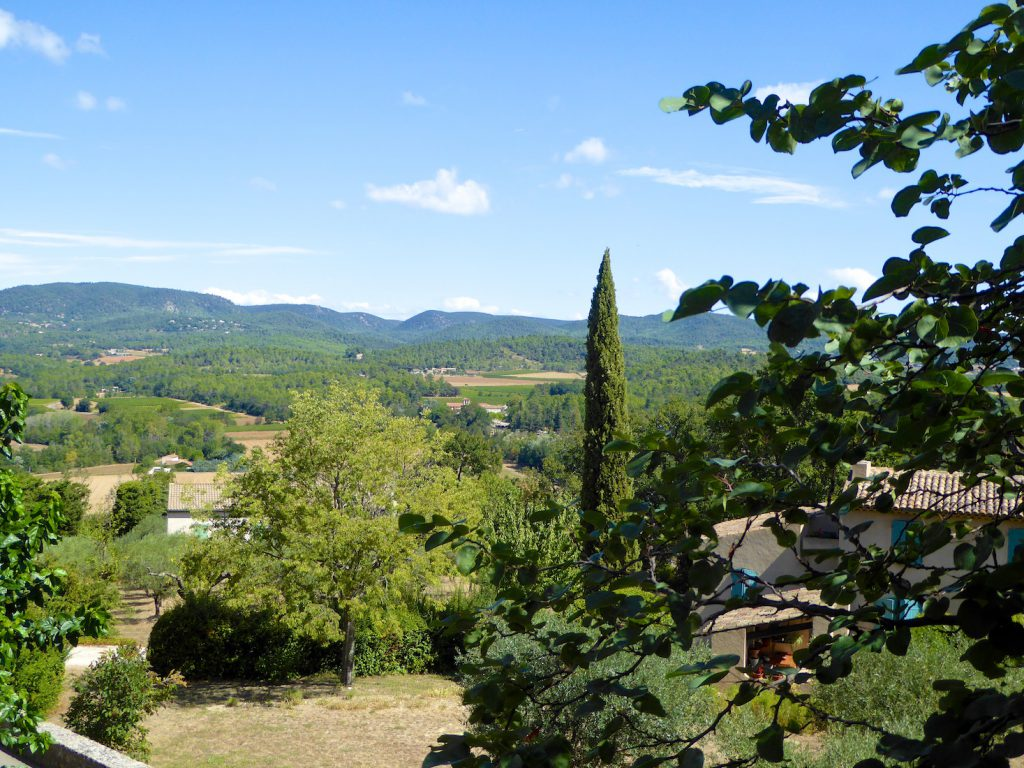 Luberon view in Grambois, Luberon, Vaulcuse, Provence, France
