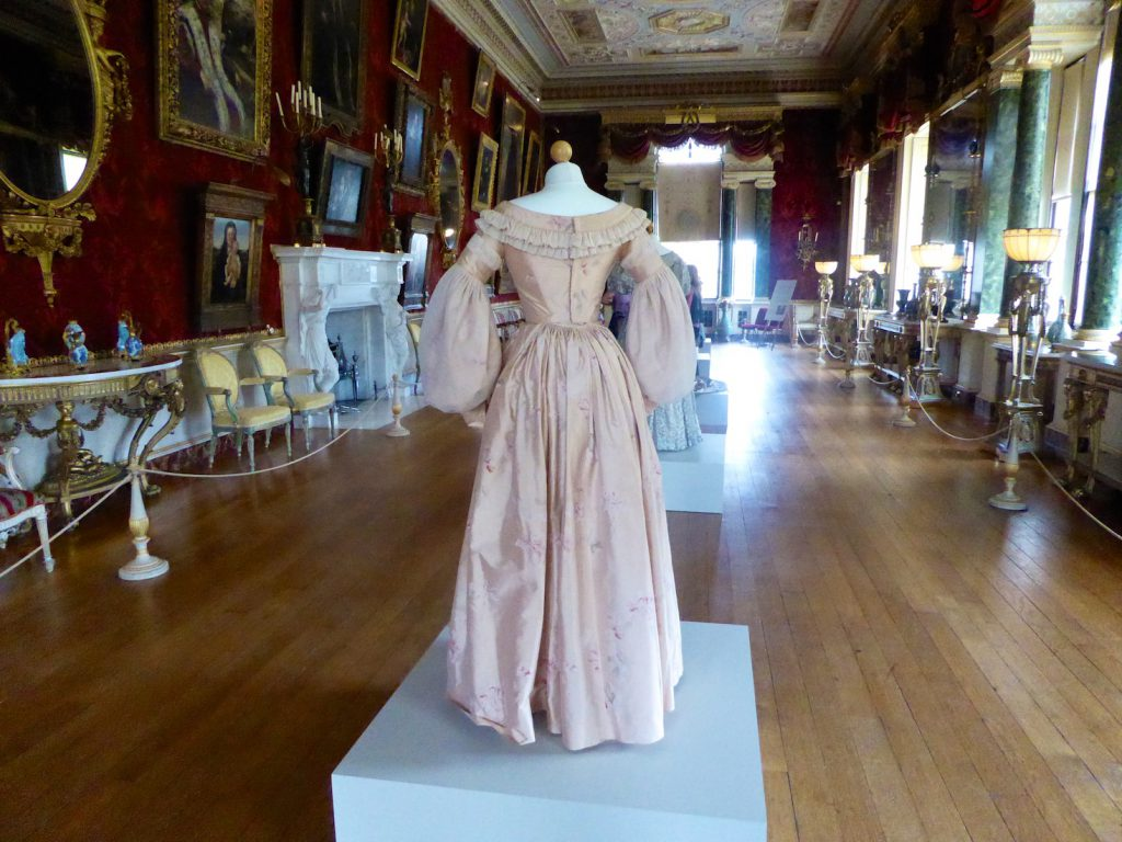 'Victoria' dresses in Gallery at Harewood House, Yorkshire, England