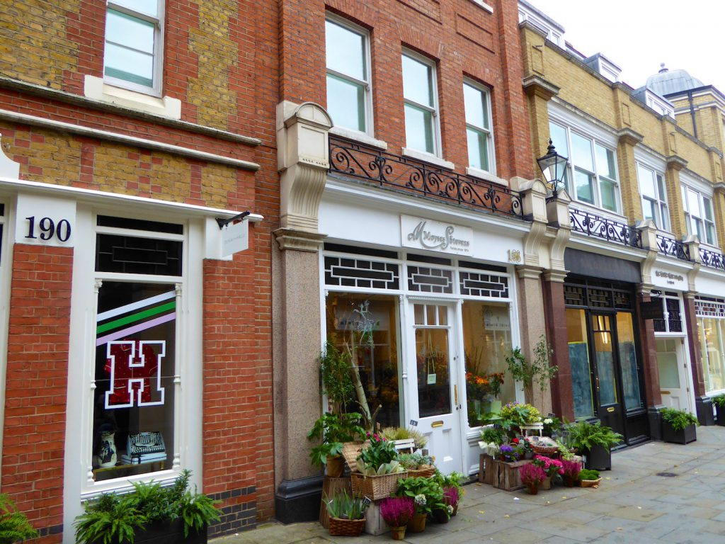 Shops in Chelsea, London, England