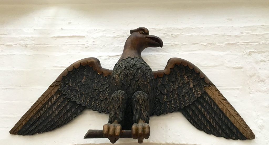 The eagle at The Spread Eagle Hotel, Midhurst, Midhurst, Sussex, England