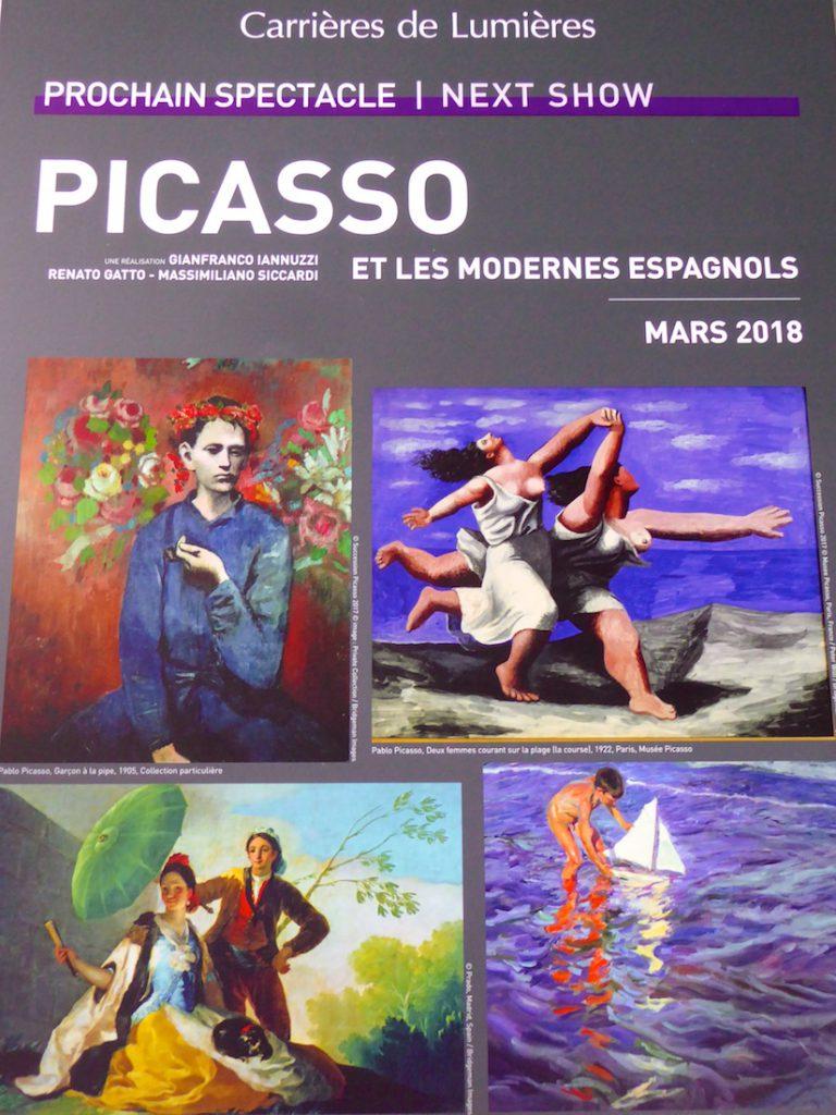 Carrières de Lumières 2018, Picasso etLes Modernes Espagnols
