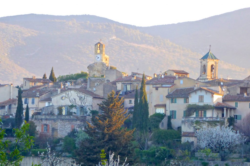 Early morning view of Lourmarin, Luberon, Provence, France