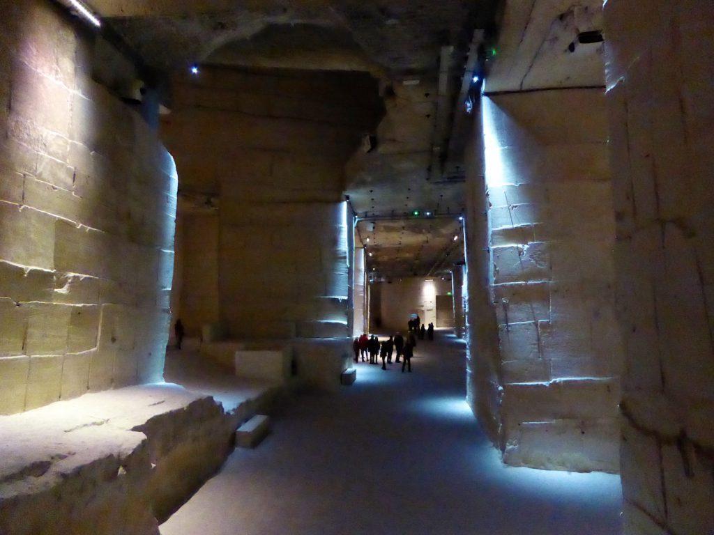 Inside Carrières de Lumières, Les Baux de Provence, Bouches-du-Rhône, Provence, France