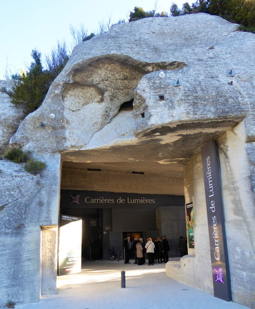 The entry to Carrières de Lumières, Les Baux de Provence, Bouches-du-Rhône, Provence, France