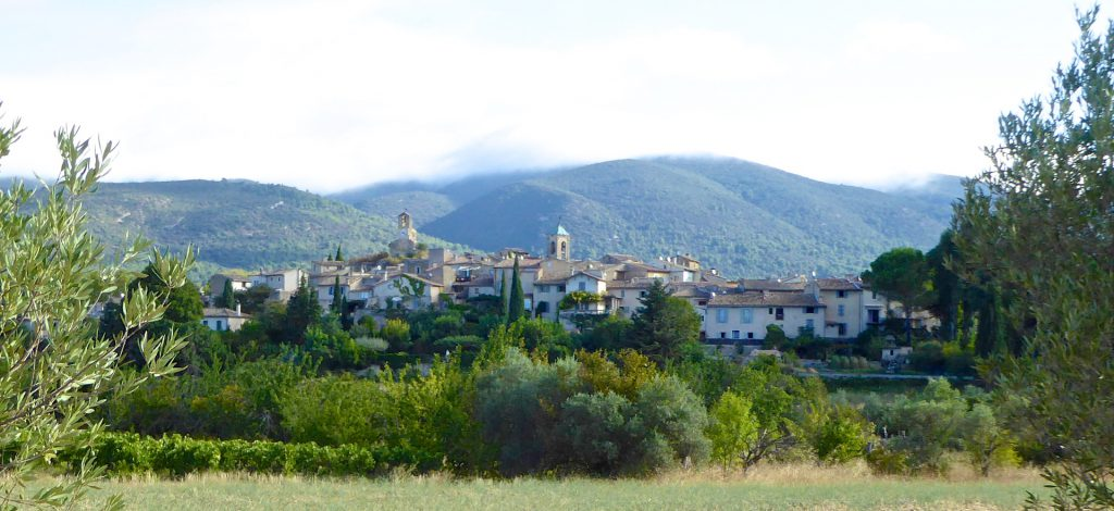 View of village of Lourmarin, Luberon, Provence, France