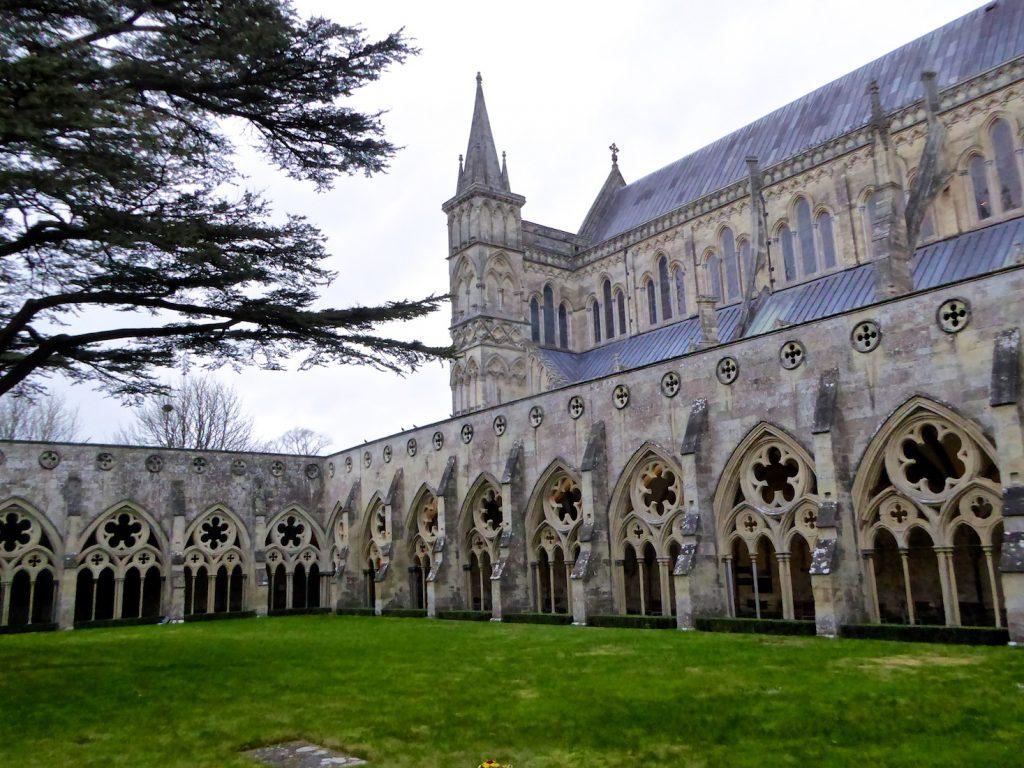 Cloisters at Salisbury Cathedral, Salisbury, Wiltshire, England