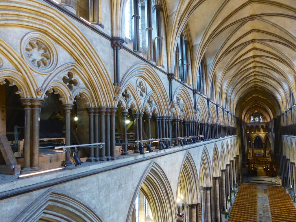 Salisbury Cathedral, from the gallery, Salisbury, Wiltshire, England