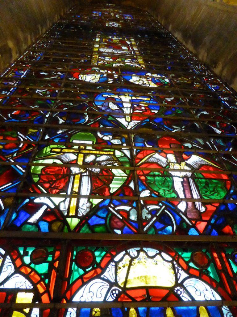 Salisbury cathedral medieval window, Salisbury, Wiltshire, England