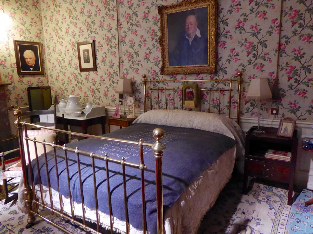 Bedroom at Blenheim Palace where Winston Churchill was born