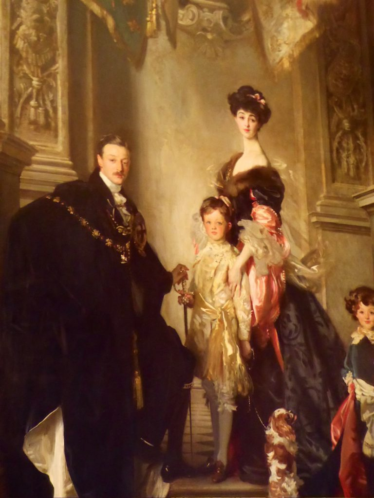 Portrait of the 9th Duke of Marlborough's family, Blenheim Palace, Woodstock, England