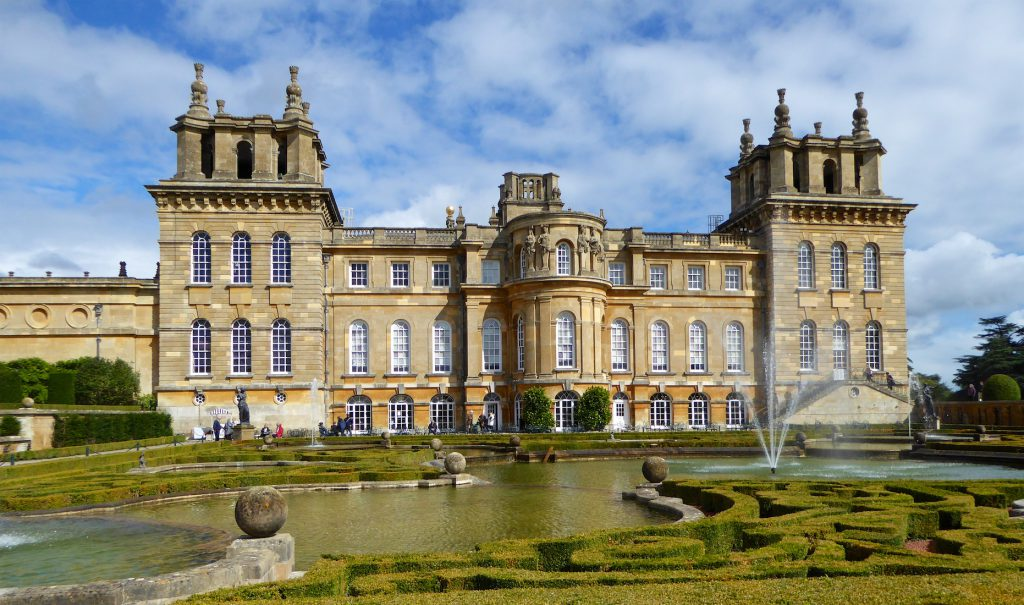 Rear of Blenheim Palace, Woodstock, England, birth place of Sir Winston Churchill