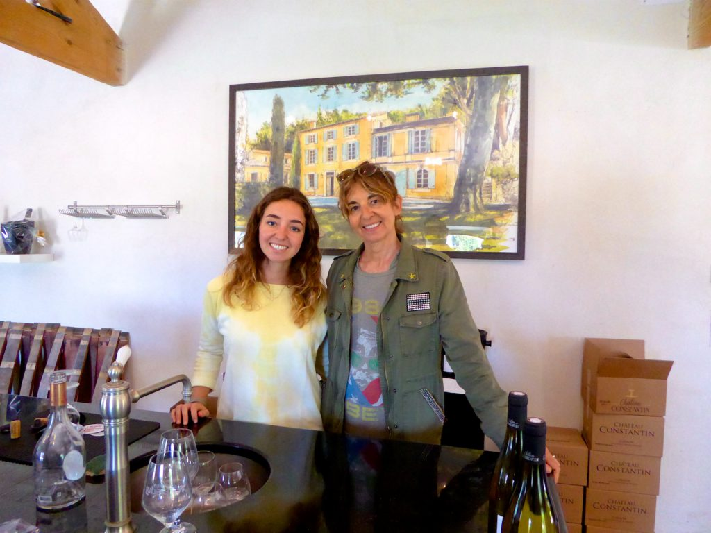 Anne-Marie and Camille Bagnis at Le Château Constantin