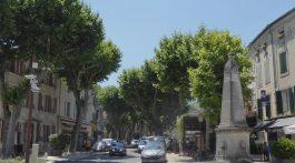 Road in Saint-Rémy-de-Provence, Bouches-du-Rhône, Provence, France