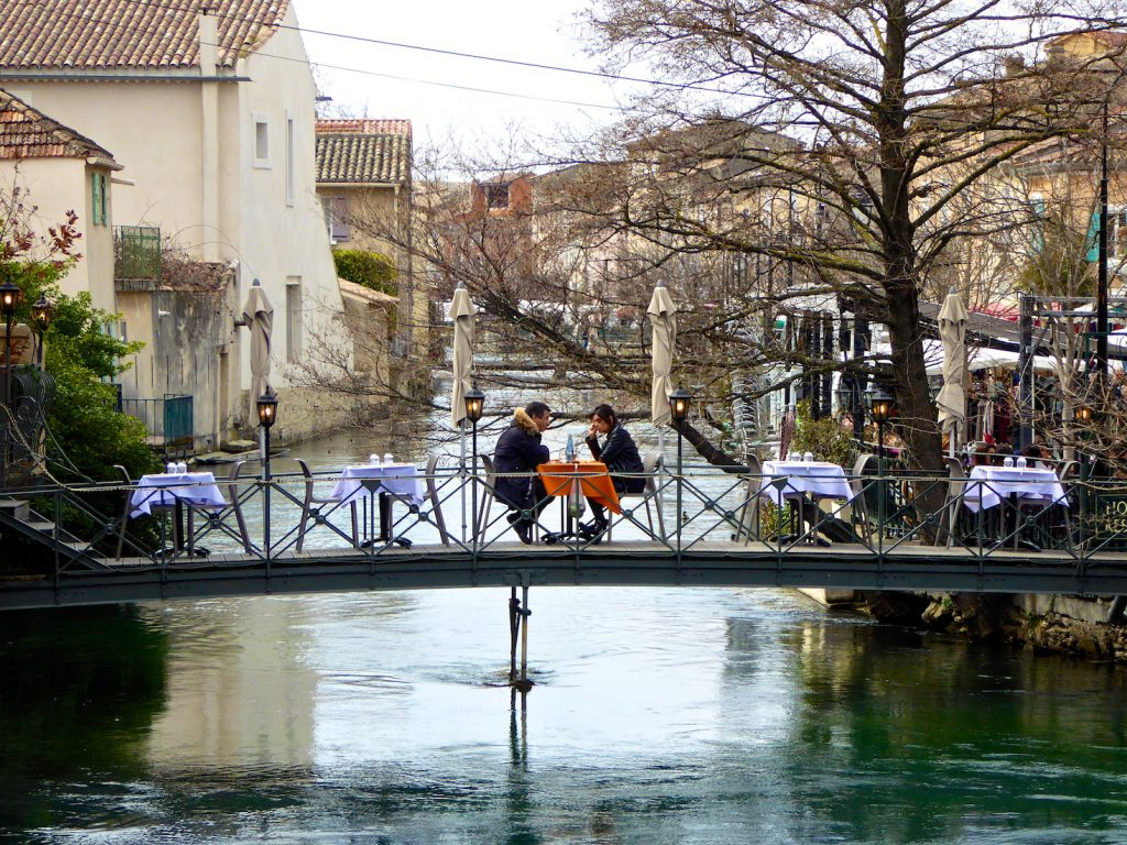 Lunch for 2 at Isle sur la Sorgue in winter!