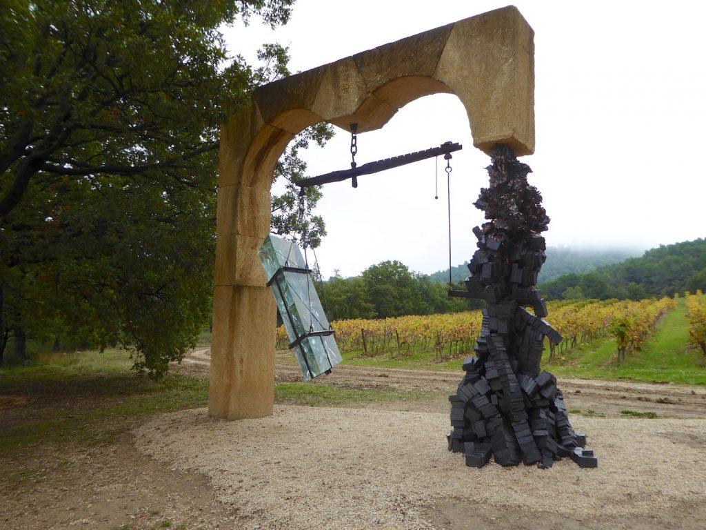 Psicopompos by artist Tunga at Château La Coste, Le Puy-Sainte-Réparade, Bouches-du-Rhône, Provence, France