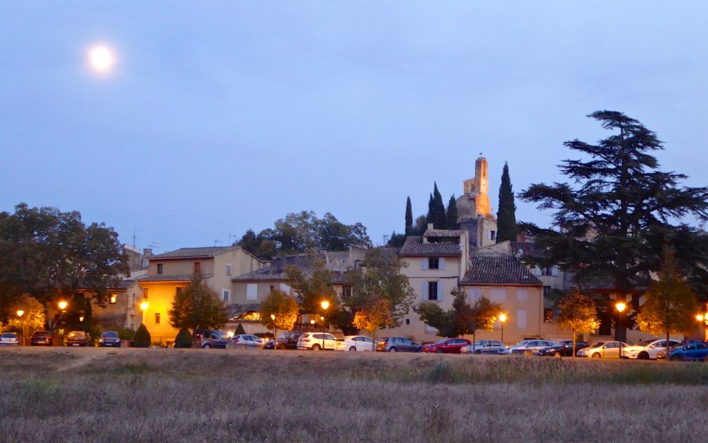 Twilight in Lourmarin, Luberon, Provence in winter