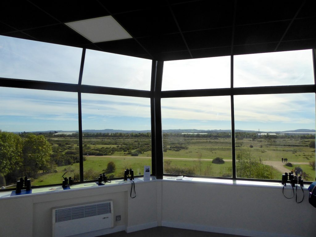 View at Control Tower at Greenham Common, near Newbury, Berkshire, England