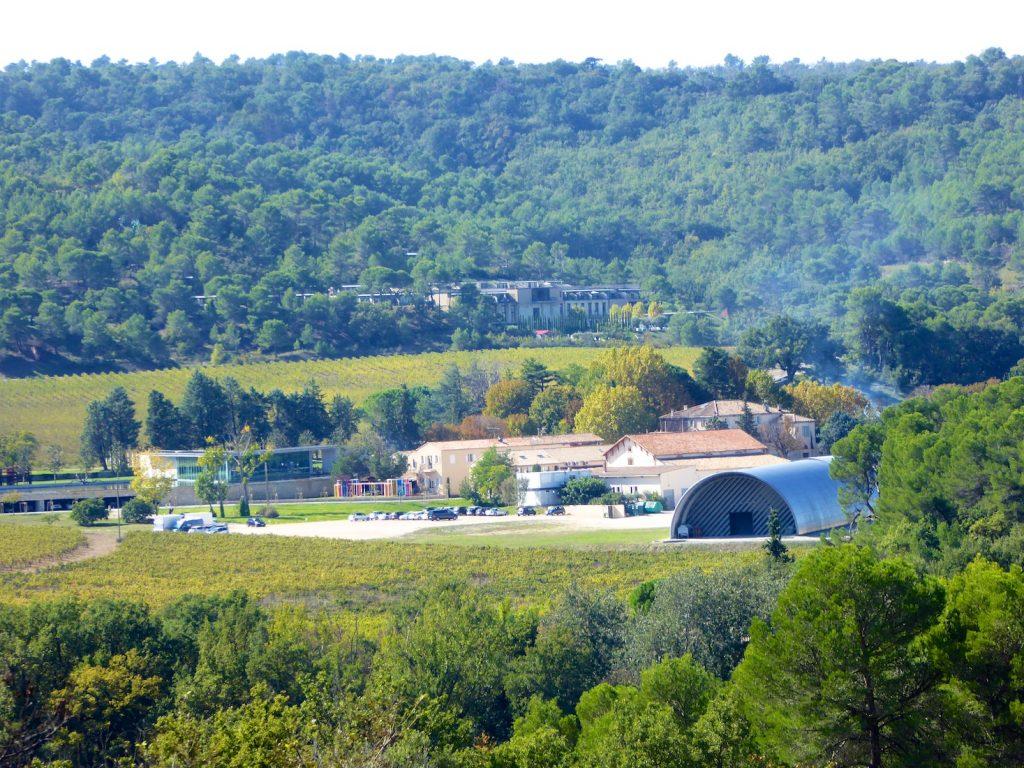 View of Chateau La Coste Le Puy-Sainte-Réparade, Provence, France
