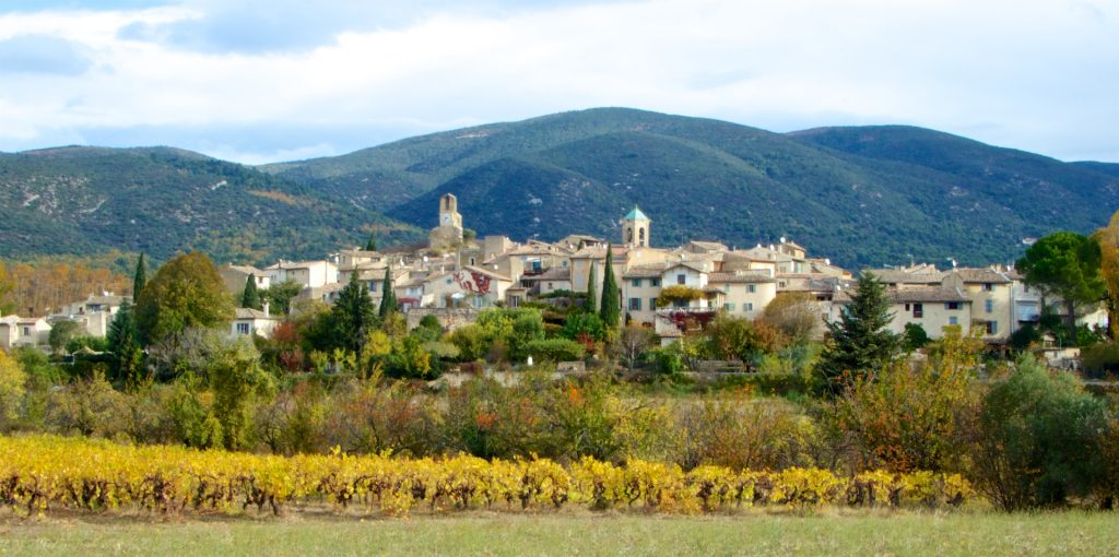 View of Lourmarin, Luberon, Vaucluse, Provence in autumn
