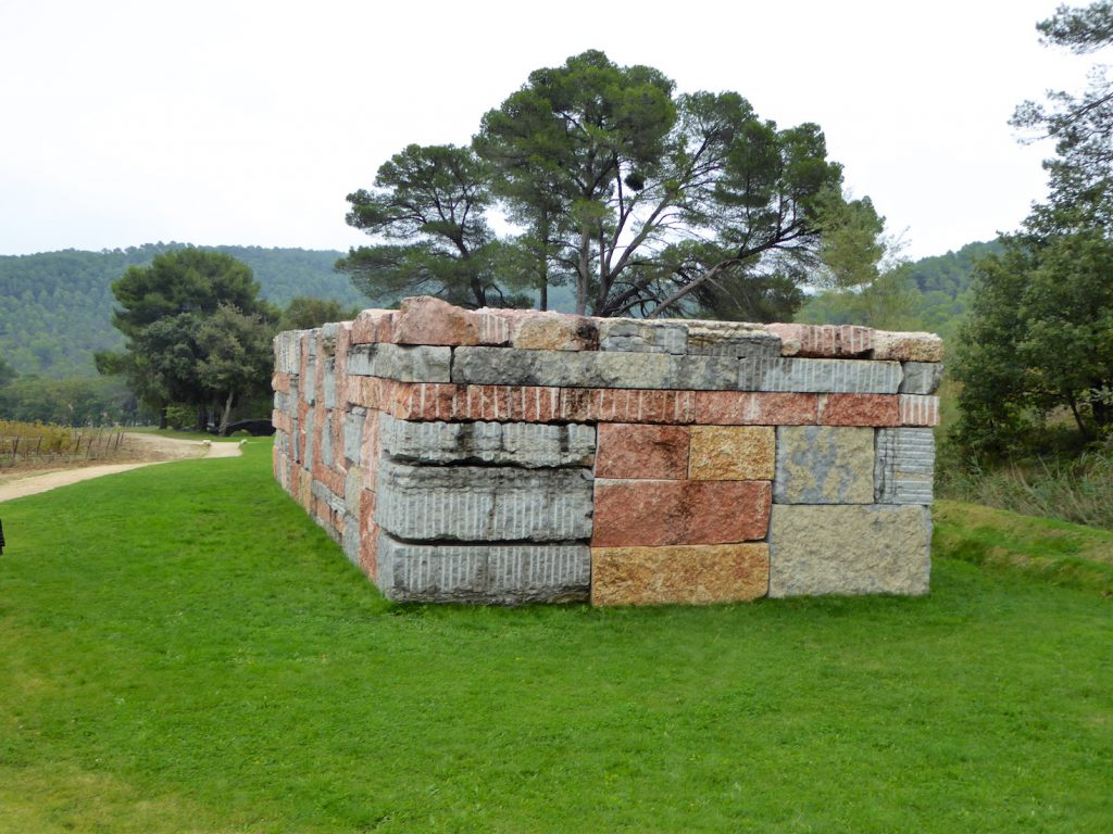 Wall of light Cubed by Sean Scully at Château La Coste, Le Puy-Sainte-Réparade, Bouches-du-Rhône, Provence, France