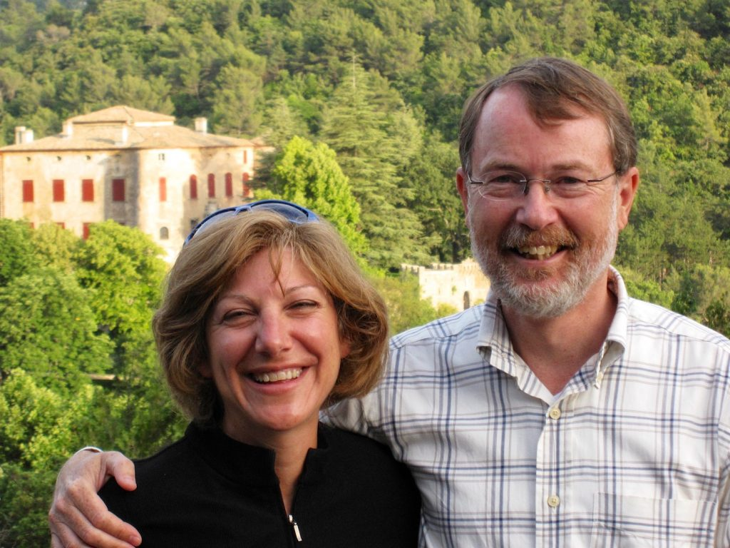 Val and Keith Van Sickle author of 'Are we French Yet', an American's perspective of living in Provence, France