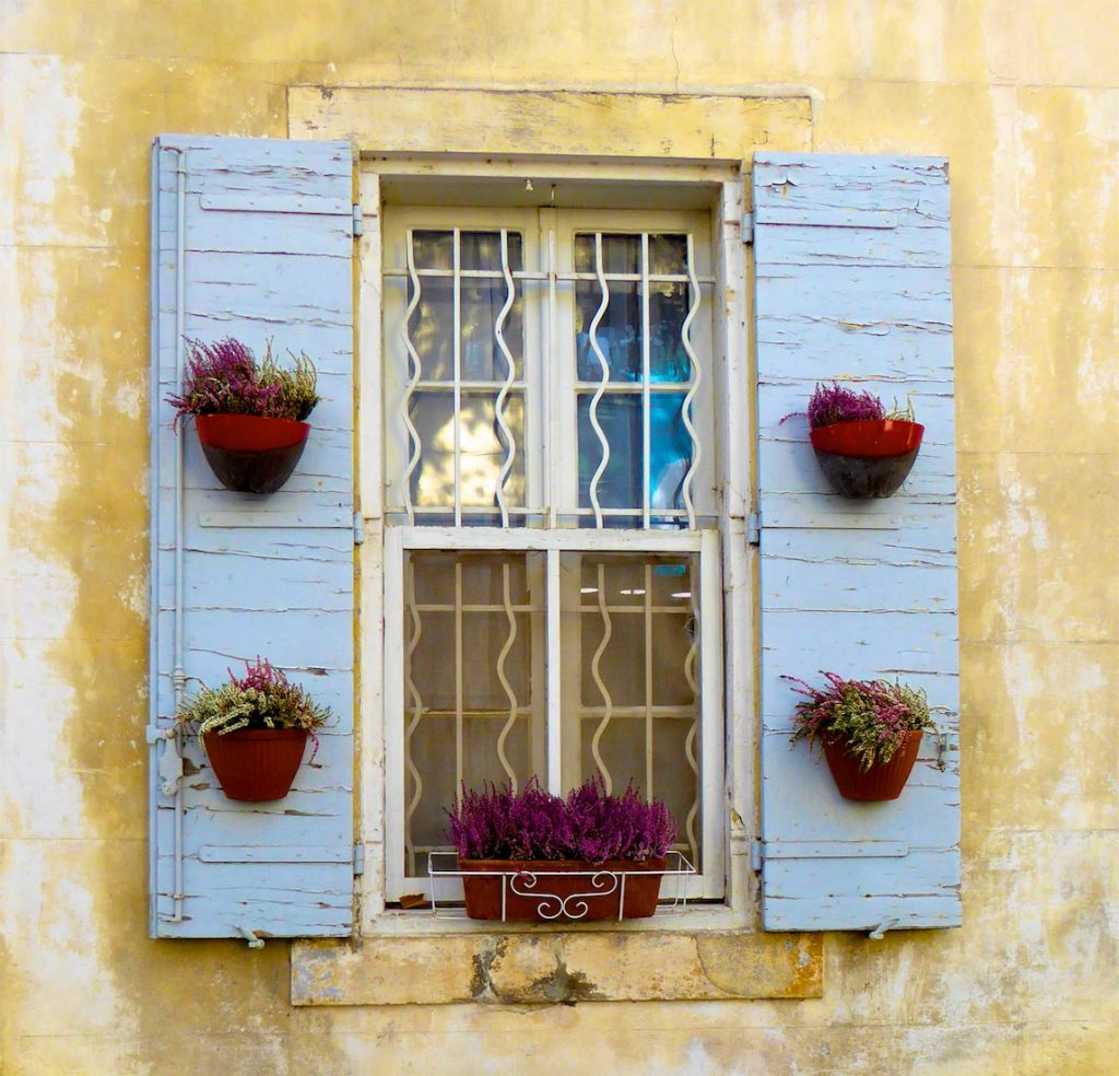 Shutters of Provence near Lourmarin