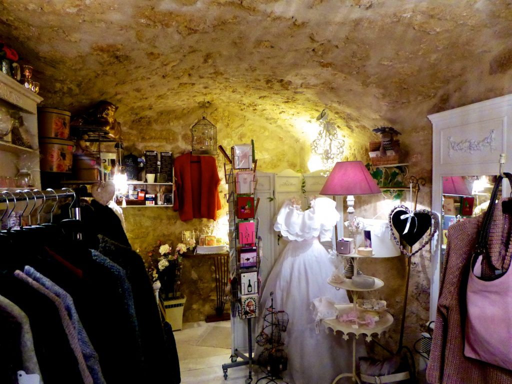 Inside the gift and clothing store Rose de Bagatelle, 18 Rue du Temple, Lourmarin 84160 France