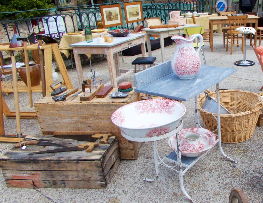 Antiques at L'Isle-sur-la-Sorgue Spring antiques fair, Luberon, Provence, France