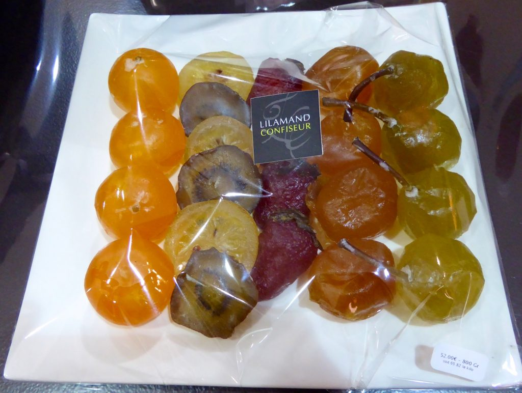 Candied fruits at Lilamand Confiseur, Luberon, Vaucluse, Provence, France