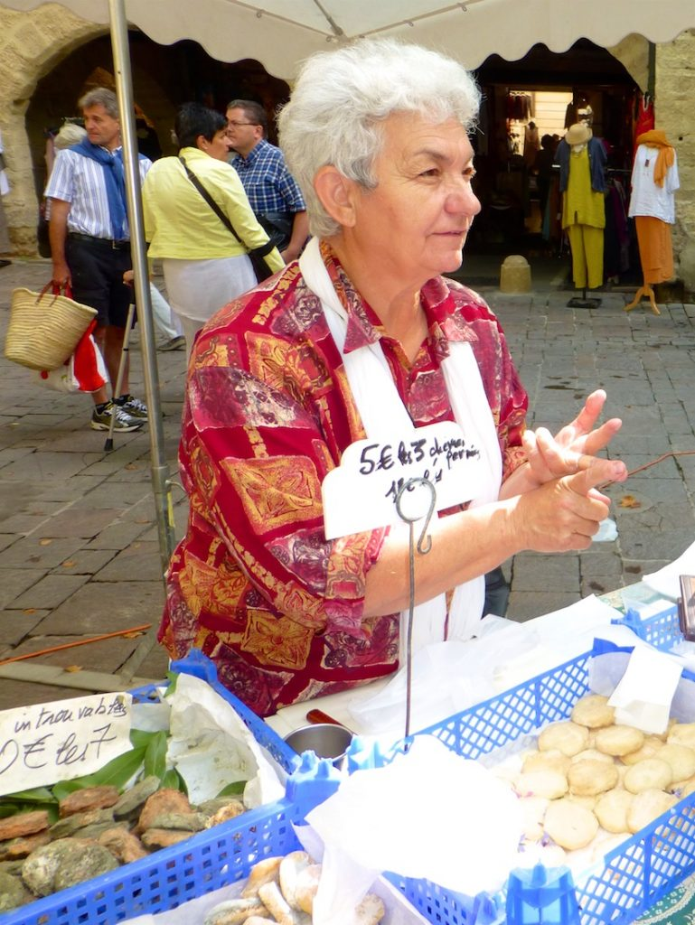 Characters in the markets of Provence, France