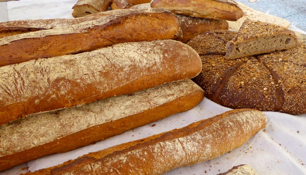 French baguettes in a Provence market