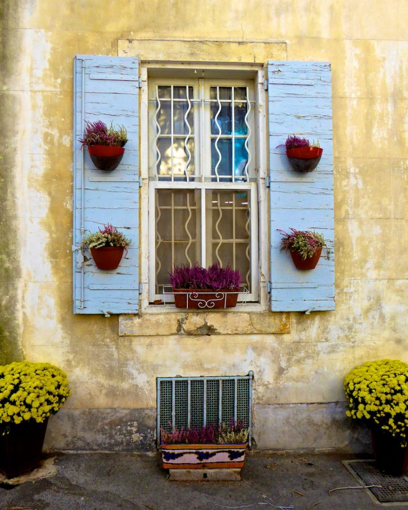 Shutters of Provence in Arles, Bouche du Rhone, Provence, France