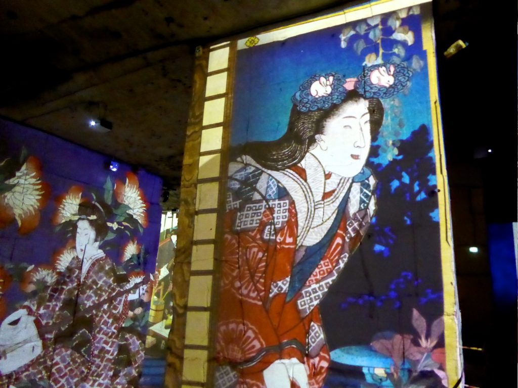 Dreamed Japan Images of the Floating World at Carrières de Lumières 2019 Van Gogh, La Nuit étoilée
