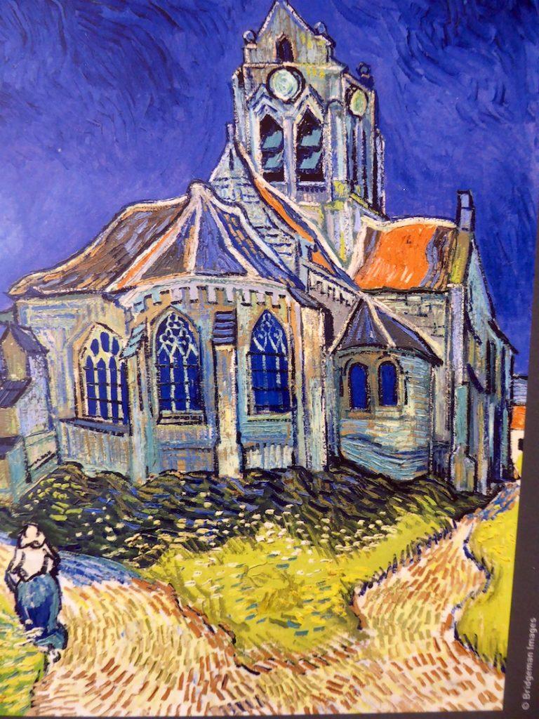Carrières de Lumières 2019, L'église d'Auvers-sur-Oise vue du chevet by Van Gogh
